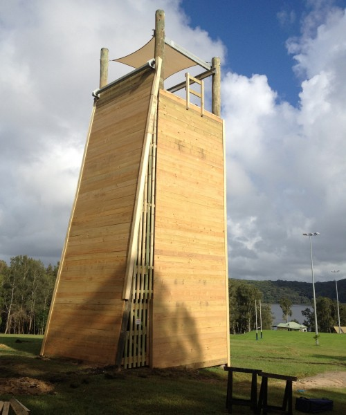 4 Sided Tower with Slab Wall.